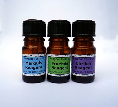Psychedelic Reagent Testing Kit | For LSD (Acid) | 2C-B, 4-AcO-MET,  amphetamine (speed), DXM, MDMA, methamphetamine (meth), methylone,  SmallTesting