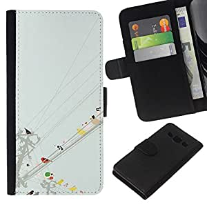 All Phone Most Case / Oferta Especial Cáscara Funda de cuero Monedero Cubierta de proteccion Caso / Wallet Case for Samsung Galaxy A3 // Watercolor Minimalist Pastel
