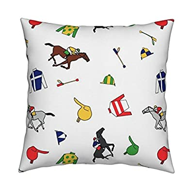 Roostery Kentucky Derby Throw Pillow Cover Derby Days by Ragan Cover w Optional Insert by