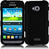 Generic Rubberized Protector Cover for Samsung Galaxy Victory 4G LTE L300 - Retail Packaging - Black