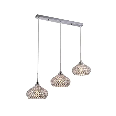 Modernas lámparas de techo de cristal LED 6 luces (3 colores ...