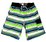 SLGADEN Boys Swim Trunks Elastic Waistband Comfortable Mesh Lined Sun Protection Summer Teens Boxer Trunks 7-8T