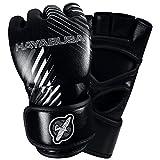 Hayabusa Ikusa Charged 4 oz MMA Gloves, Black/Grey, Small