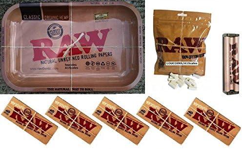 Pack de Raw 1 bandeja de tamaño mediano/5 paquetes de King Size ...