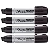 #10: Sharpie Pro Magnum Professional Permanent Marker, Oversized Chisel Tip, Black Ink, Pack of 4