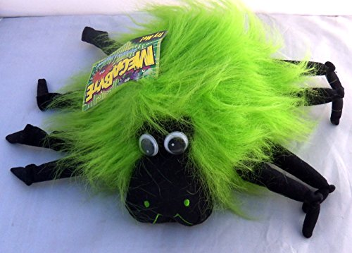 Halloween Megabyte Sound Activated Green Spider Wiggles Plush 9