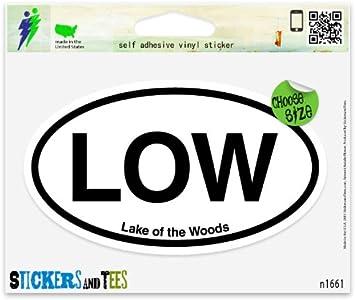 "LW Lake Winnipesaukee NH Oval car window bumper sticker decal 5/"" x 3/"""