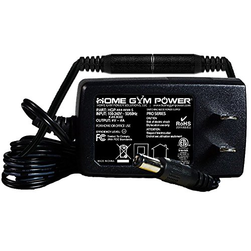 Gold's Gym Cycle Trainer 300C, 300Ci, 400R & 400Ri (9V Models) Home Gym Power 'Pro Series' Wall Plug Style AC Adapter with Breakaway Power Cord (8FT)