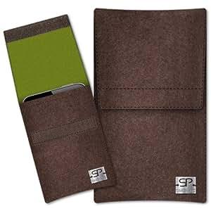 SIMON PIKE Cáscara Funda de móvil Sidney 3 marrón Samsung C3330 Champ 2 Fieltro de lana