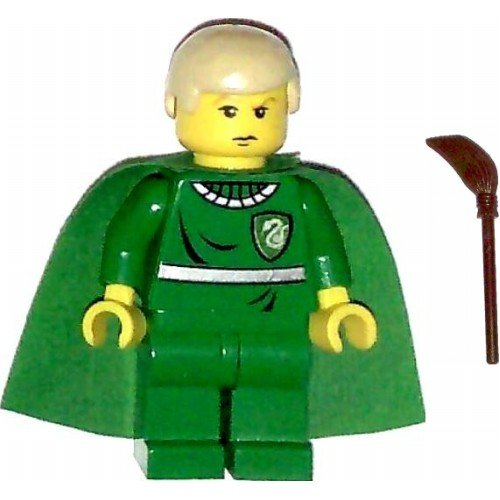 LEGO Harry Potter Minifig Draco Malfoy Green Quidditch Uniform