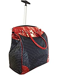 Polka Dot Rolling Travel Tote Foldable Carry-On