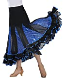 Long A-line Modern Dance Practice Ballroom Clothes Skirts Gown Practice Skirts