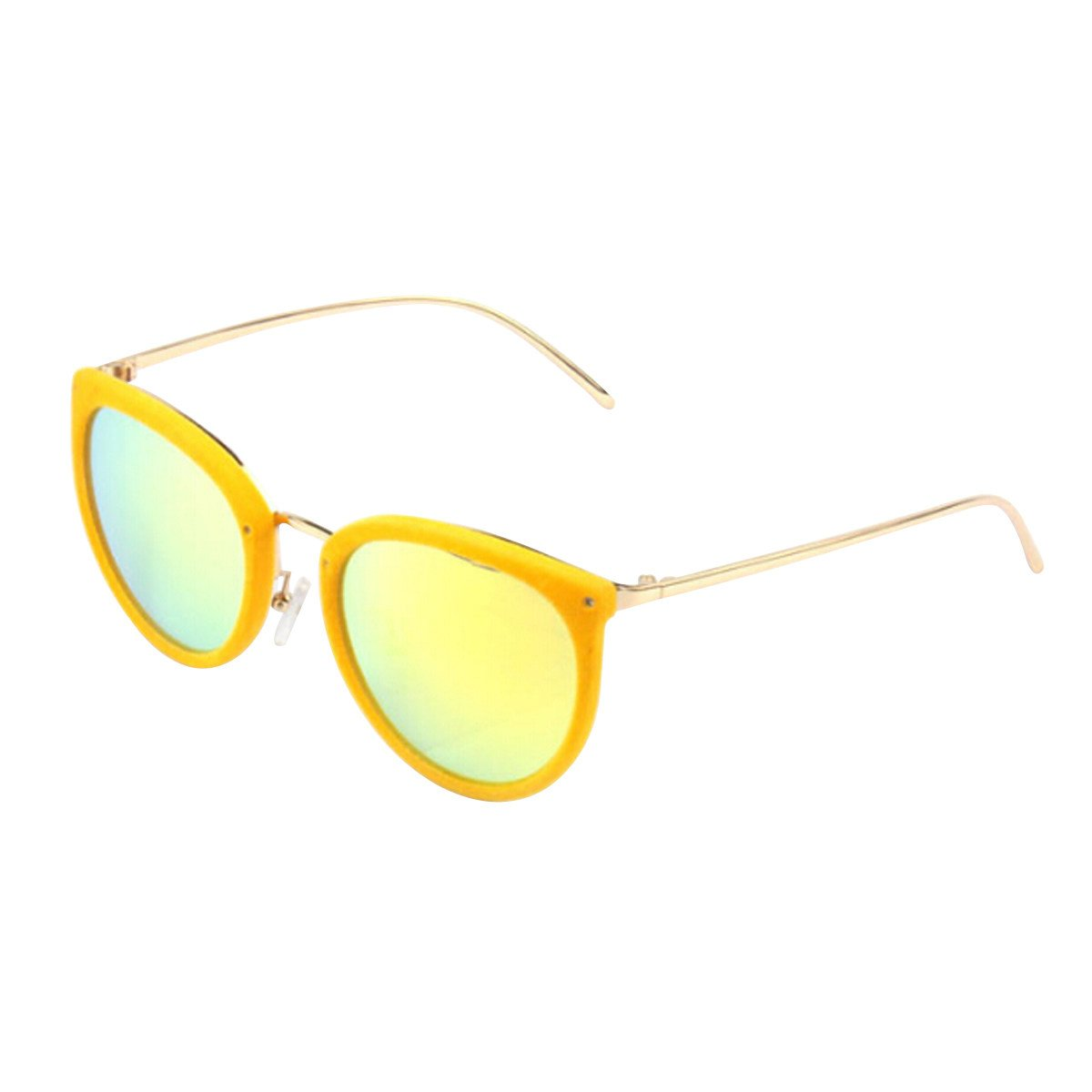 Personalisierte Sonnenbrille Mode Retro Plüsch Sonnenbrille Damen Reflektierende Gezeiten Sonnenbrillen,BlackBoxWhiteFilmC1