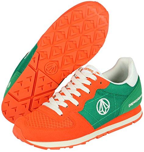 1142 de Naranja de Verde deporte entrenamiento moda Paperplanes 1 unisex con de Zapatillas tope bajo 1142 SfEwqnaWd
