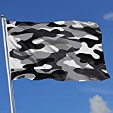 Wanghaojiemimi Gray Military Camouflage 3x5 Foot Home Garden Decor Flag