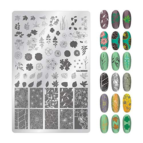 Orcbee  _Splice Image Plate Nail Art Design Stamping Kits Manicure Template Set (C)