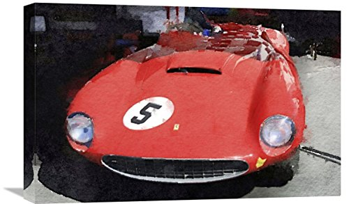 "Naxart Studio ""1962 Ferrari in the Pits Watercolor"" Giclee on Canvas, 24"" x 1.5"" x 16"" from Naxart Studio"