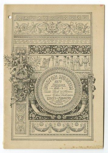 The Prisoner of Zenda - Vintage Playbill - Boston Museum, 1896 - E.H. Sothern (The Prisoner Of Zenda Inc compare prices)