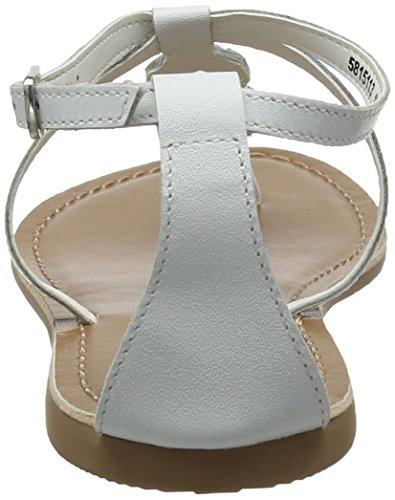 New Look Women's ICY Open Toe Sandals White (White 10) W4kyjJr