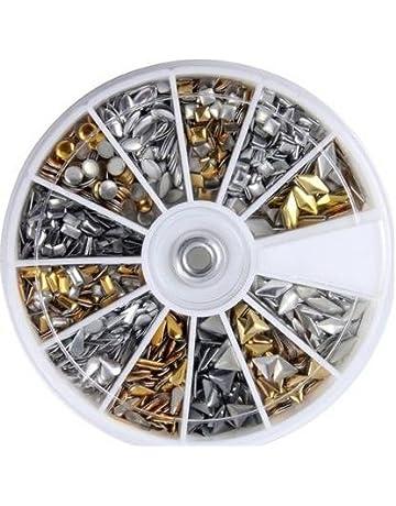 Arpoador 3d diseño uñas arte metálico studs rhinestone rueda Manicura Nail Art DIY decoration-12