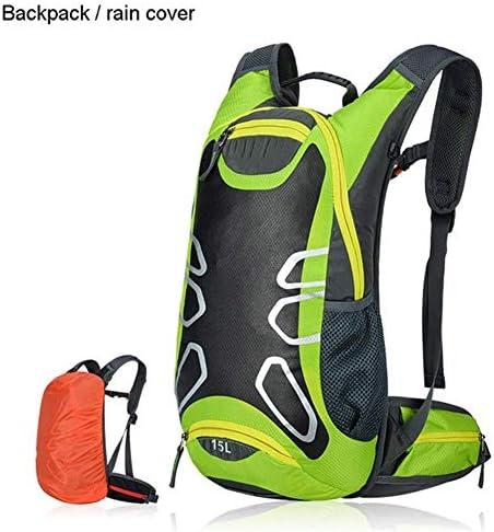 BAJIMI アウトドアハイキングキャンプ旅行自転車バッグショルダー超軽量スポーツ乗馬水分補給18Lバイクバッグ/グリーンのためのバックパック
