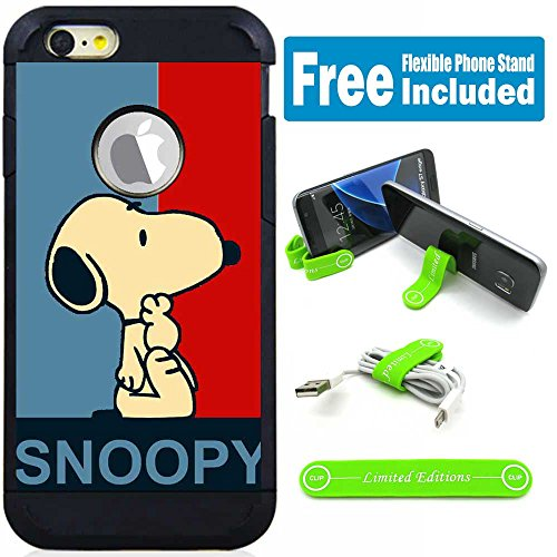 (Apple iPod Touch 5/6 5th/6th Generation Hybrid Armor Defender Case Cover with Flexible Phone Stand - Snoopy Polo)