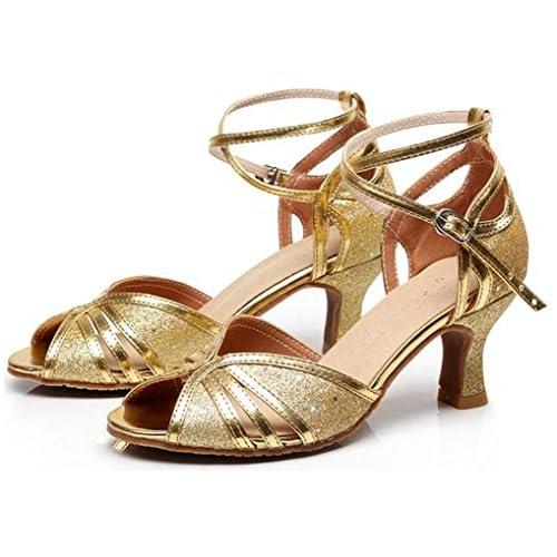 Barato Mujer Tacón Latino Baile Zapatos 5cm Altura Stiletto De Alto qUSpGMzV