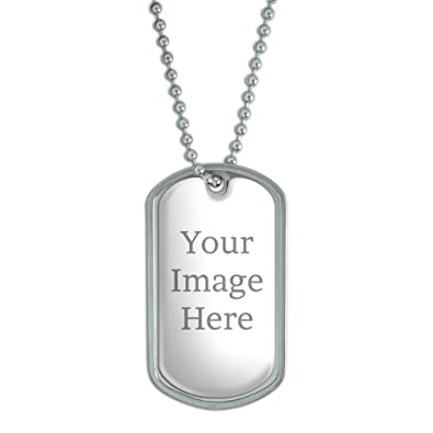 247021ef5728 Amazon.com: Graphics and More Self-eez(TM) Custom Personalized Dog Tag with  Chain: Jewelry