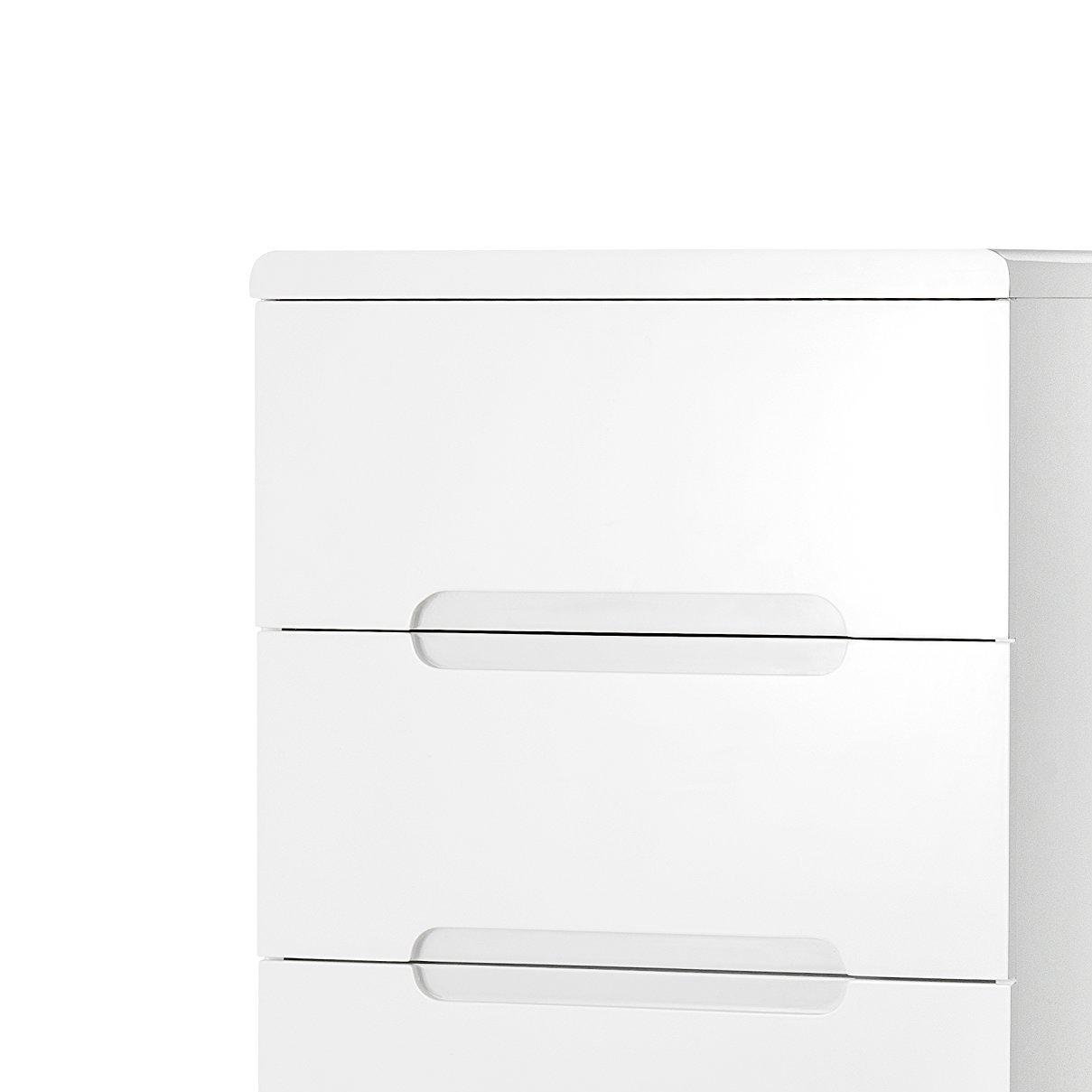 Julian Bowen Bedside Cabinets High Gloss White 45x35x43 cm Wood