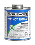 Weld-On 10841 Quart 727 Hot 'R Cold PVC Cement, Clear, 1-Pack