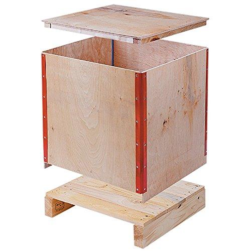 Propac z-casl505050 Folding Wooden Crates, 52 x 52 x 64 cm, 100 kg 52x 52x 64cm 100kg