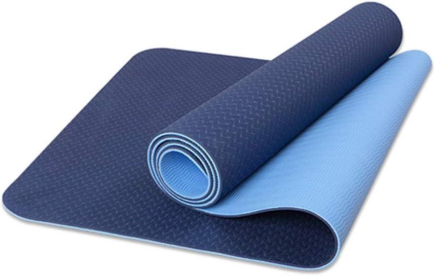Grosor Adicional de 6 mm y 8 mm Ideal para Ejercicios en el Suelo HIPPOSEUS Colch/ón para Yoga y Ejercicios estiramientos Pilates Abdominales Acampada 183 x 61 cm Gimnasia