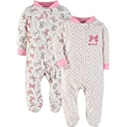 Wan-A-Beez 2 Pack Sleep 'N Play (3-6 Months, Bows)