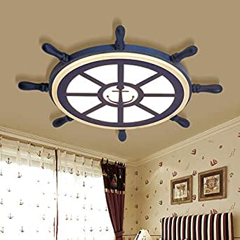 "LITFAD Modern Ceiling Light 21.5"" Rubber Design Nautical"