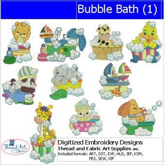 (Threadart Machine Embroidery Designs - Bubble Bath(1) - USB Stick)