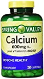Spring Valley Natural Vitamin D Bone Health Calcium- 600mg and 250 tablets