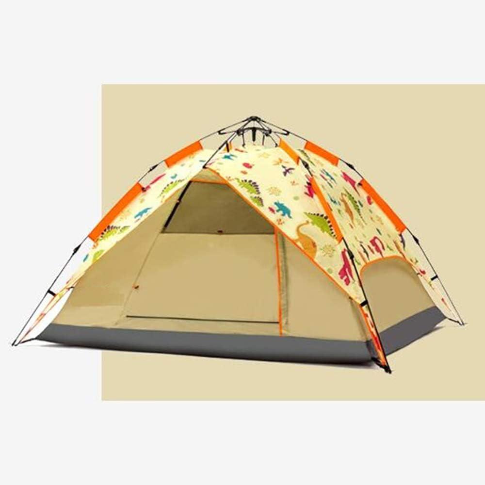 Dalovy Leichtes Zelt,Automatisches Pop-Up-Campingzelt 3-4 Personen im Freien Einfach Einzurichten und zu Verpacken Wasserdichter Anti-Uv-Sonnenschutz A