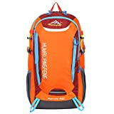 HWJIANFENG Hiking Backpack Camping Daypacks -30L capacity -Designed for Maximum Comfort-Ultralight Outdoor Sports Pack for Men Women Orange For Sale