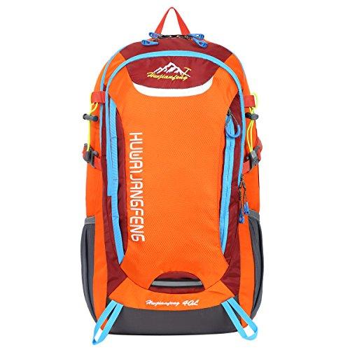 HWJIANFENG Hiking Backpack Camping Daypacks -30L capacity -Designed for Maximum Comfort-Ultralight Outdoor Sports Pack for Men Women Orange For Sale