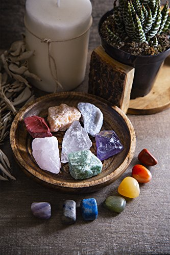 Beverly Oaks Energy Infused Natural Raw Healing Crystals and Tumbled Stones - Chakra Stones For Crystal Healing - The Ultimate Chakra Kit with Huge Variety of Gemstones
