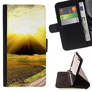 For Samsung Galaxy S3 III i9300 i747 Case , Naturaleza Hermosa Forrest Verde 88- la tarjeta de Crédito Slots PU Funda de cuero Monedero caso cubierta de piel