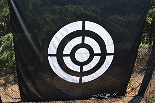 77tech Golf Practice Hitting Net Cage Automatic Ball Return System Tri-ball Golf Driving Chipping Net Training Aid with Target sheet and Two Side Barrier by Golf Net (Image #7)