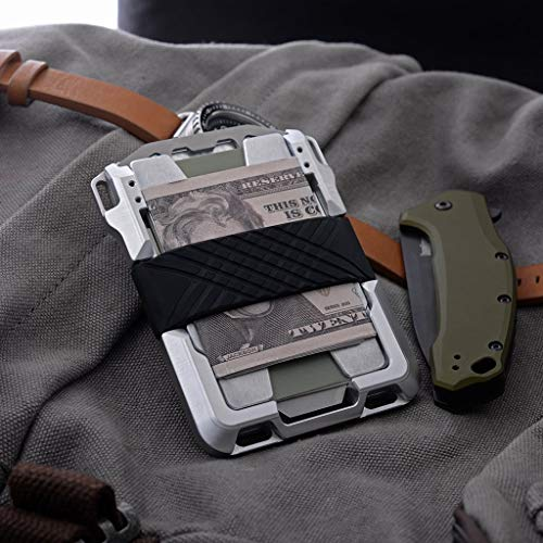Dango M1 Maverick Tactical Wallet - Brown Rawhide/Raw Aluminum - Made in USA