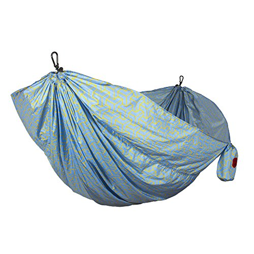 Grand Trunk Double Parachute Printed Nylon Hammock: Portable with Carabiners and Hanging Kit - Perfect for Outdoor Adventures, Backpacking, and Festivals, ()