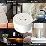 6 PACK   Mini Smart Plug   Wi-Fi Enabled   Wireless Outlet   Amazon Alexa Compatible   No Hub Required   Timing Function   Turn Electric Equipment On/Off Anywhere   White