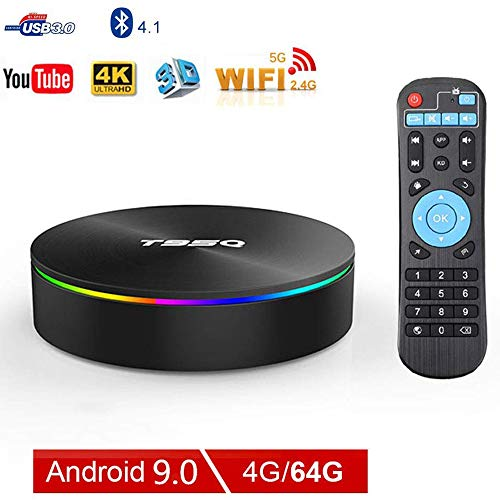 LQQZZZ Android 9.0 TV Box, 4GB 64GB 4K Bluetooth TV Box H.265 Amlogic Quad-Core 2.4G And 5Ghz Dual Wifi RJ45 Ethernet…