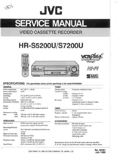 JVC HR-S7200U HR-S5200U service manual