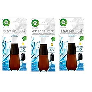 Air Wick Essential Mist, Essential Oil Diffuser Refill, Fresh Water Breeze, 3 Count, Air Freshener
