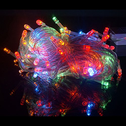 HDE Linkable LED String Lights Holiday Home Fairy Multifunction Wedding College Dorm Room Craft Decoration Expandable Rope Lights (100 Micro LEDs - Multi-Color)