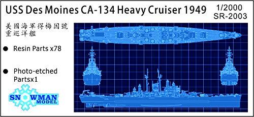 スノーマンモデル 1/2000 アメリカ海軍 重巡洋艦 CA-134 デモイン 1949 レジンキット